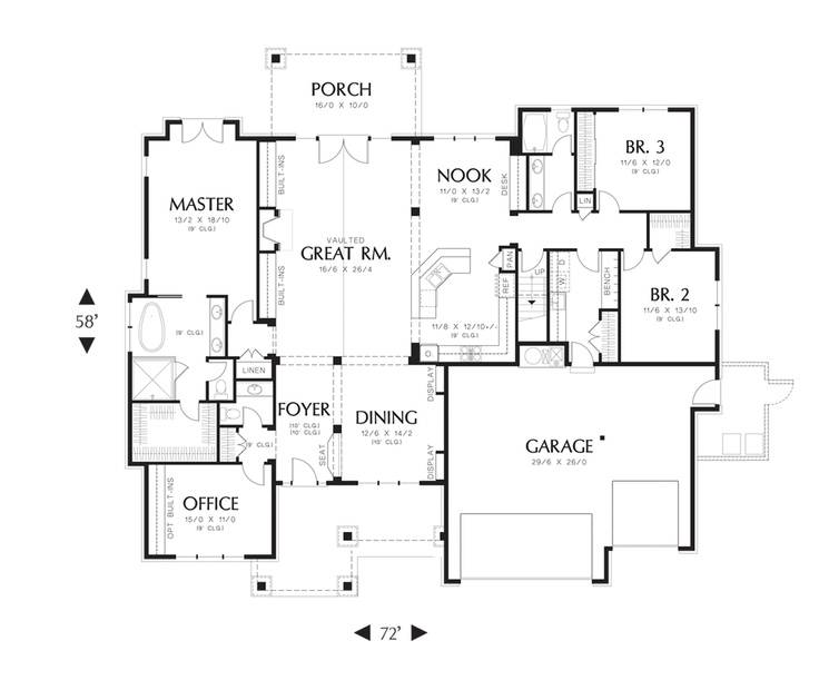 Main Floor Plan Mascord Ashby