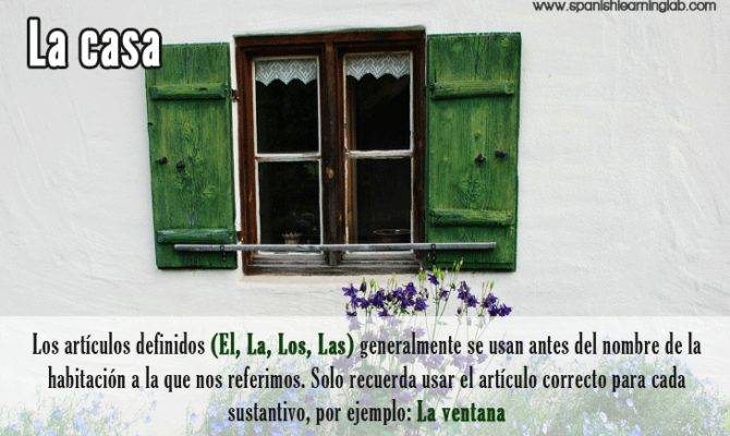 Making Simple Sentences Rooms Parts House Spanish