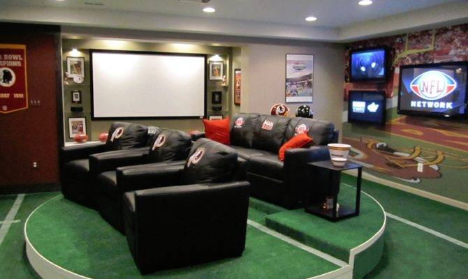 Man Cave Concepts Our Definitely Sports Themed