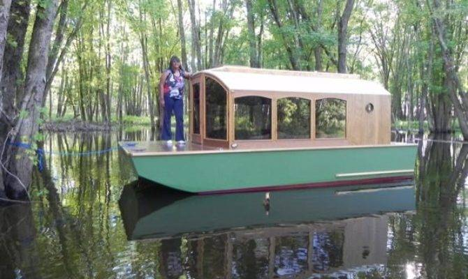 Man Designs Micro Houseboat Can Build Cheap