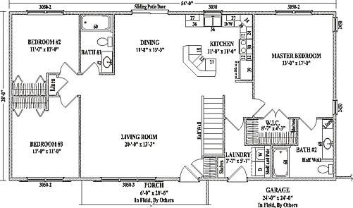 Mankato Wardcraft Homes Ranch Floorplan