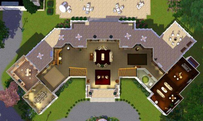 Mansion Floor Plans Sims Mod Manor