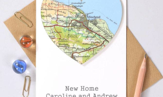 Map Location Heart New Home Card Bombus