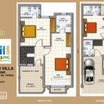 Marla Bed Room Villa Ground First Floor Plan
