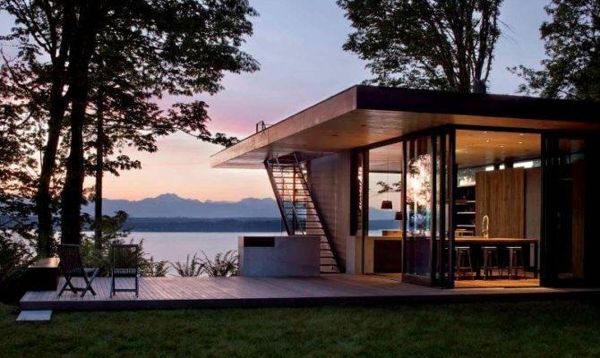 Marvelous Modern Lake House Plans Design