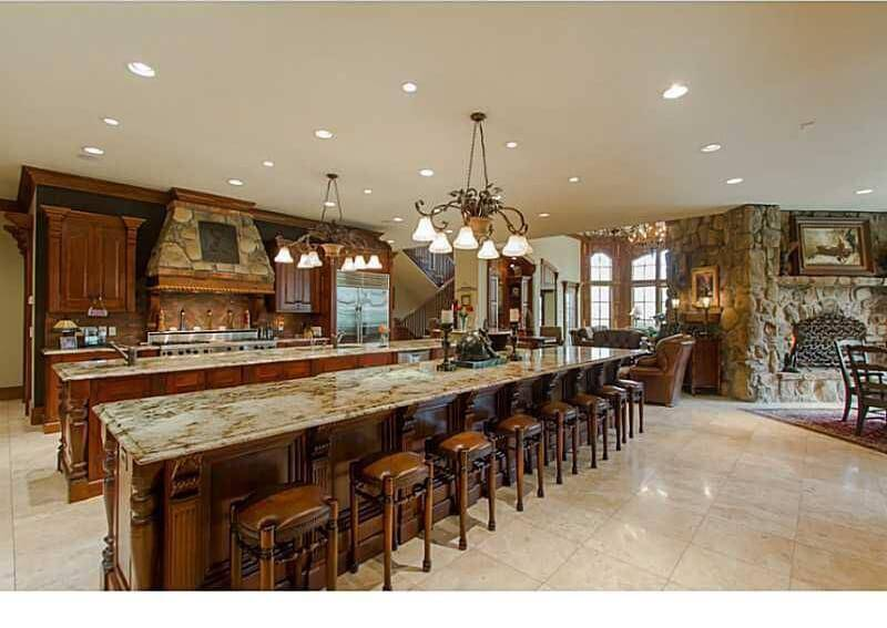Massive Kitchen Two Width Islands One Island Offers Seating