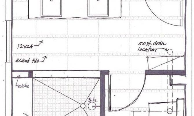 Master Bathroom Floor Plans Walk Shower Above