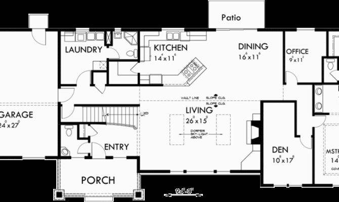Master Bedroom Main Floor Side Garage House Plans