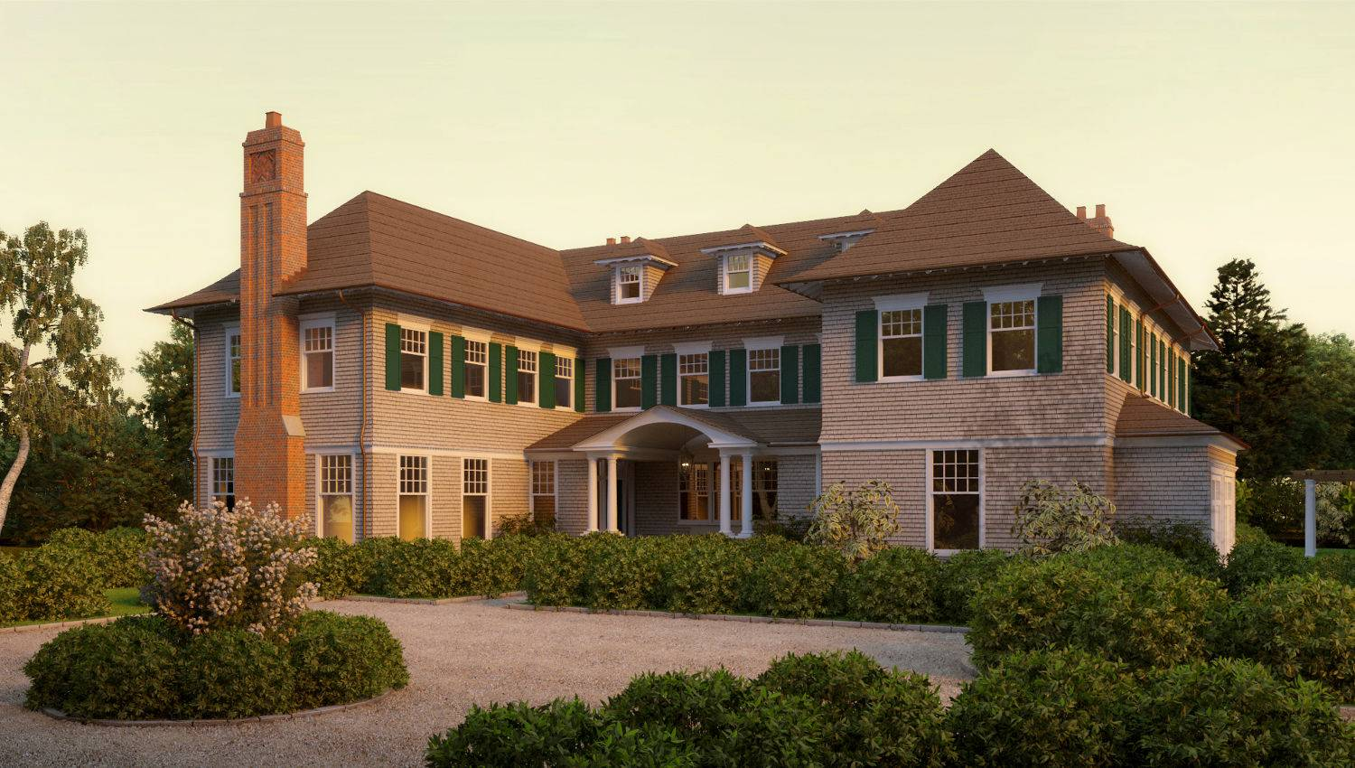 Meadowmere Lane Shingle Style Home Plans David Neff