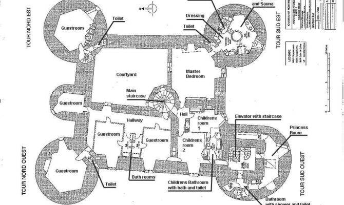 Medieval Castle Blueprints Montbrun French Chateau Home