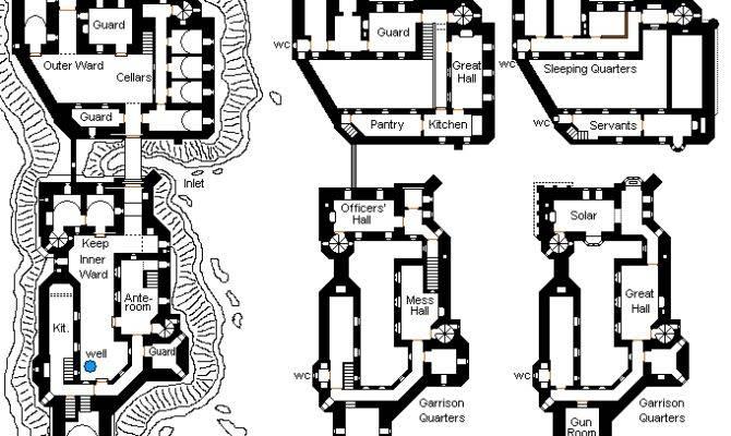 Medieval Castle Floor Plan Lower Plans House