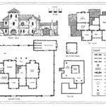 Medieval Italian Spanish Villa Plan Vector Art