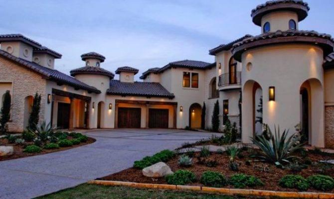 Mediterranean Architecture Seen House Exteriors