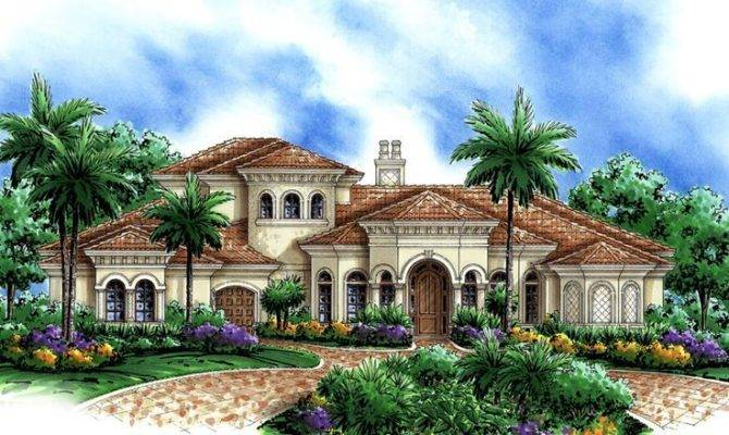 Mediterranean Home Plan Beautiful Houses Pinterest