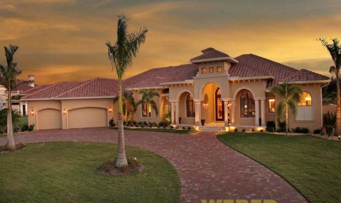 Mediterranean House Plan Luxury Home Floor