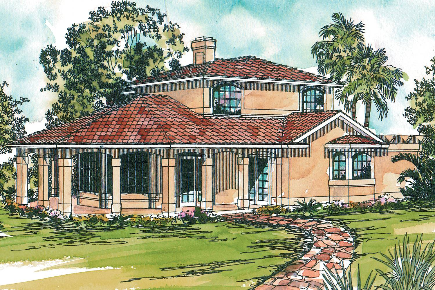 Mediterranean House Plans Lauderdale Associated Designs