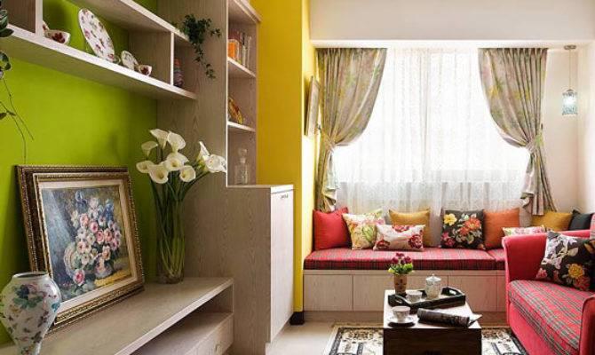Mediterranean Living Room Bay Window Design