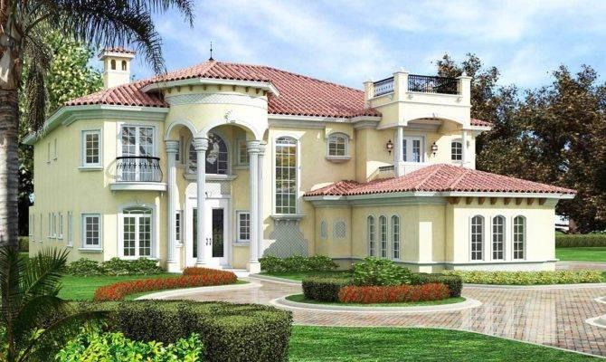 Mediterranean Manor Architectural Designs