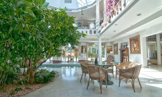 Mediterranean Manor Indoor Garden Sanctuary Spain