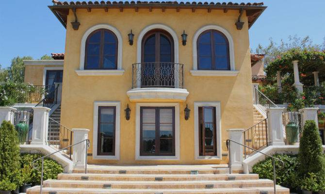 Mediterranean Villa Exterior Santa