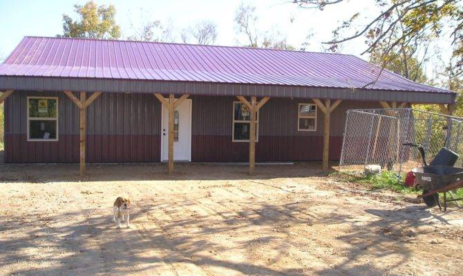 Metal Pole Barn House Plans Spotlats