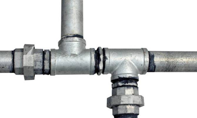 Metal Water Pipes White