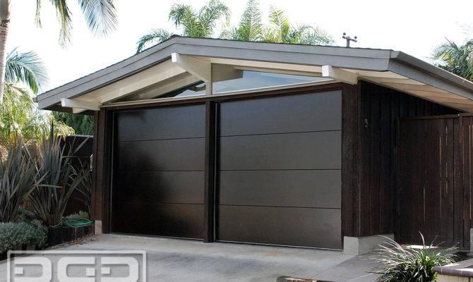Mid Century Custom Architectural Garage Door