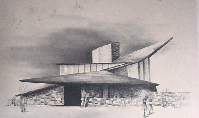 Mid Century Modern Home Sketch Architect Richard