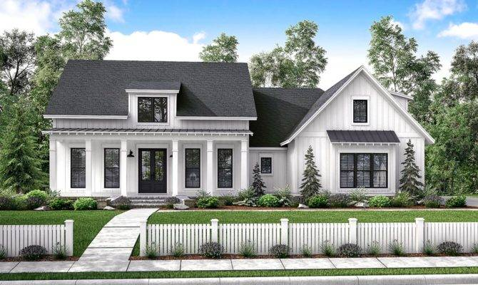 Mid Exclusive Modern Farmhouse Plan