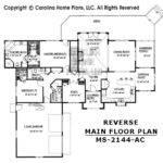 Midsize Contemporary Ranch Style Home Plan