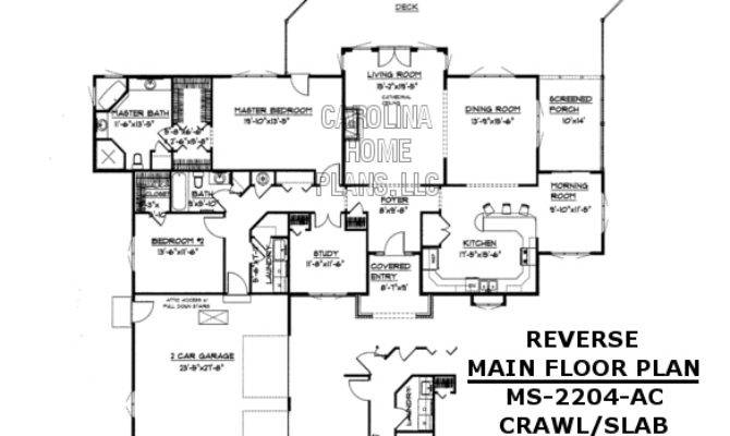 Midsize Contemporary Ranch Style Home Plan
