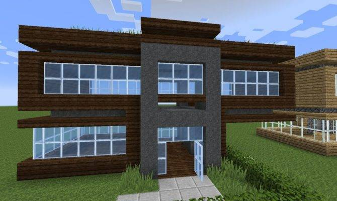 Minecraft Build Very Simple Modern Starter House