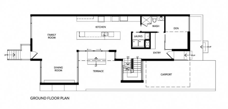 Minimalist Zen Like Barn Ground Floor Plan House Design