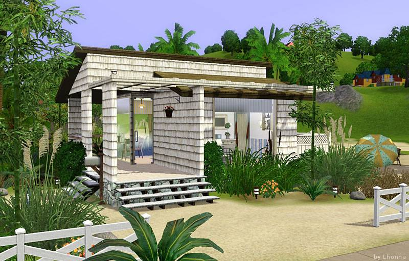 Mod Sims Beach Cabin Small House Single