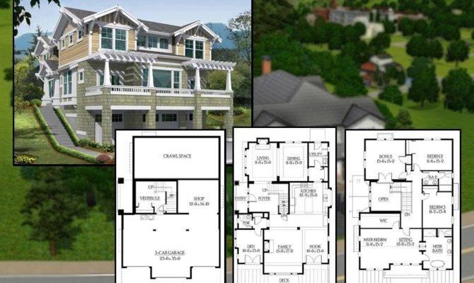 Mod Sims Bedroom Craftsman Cliffside Home