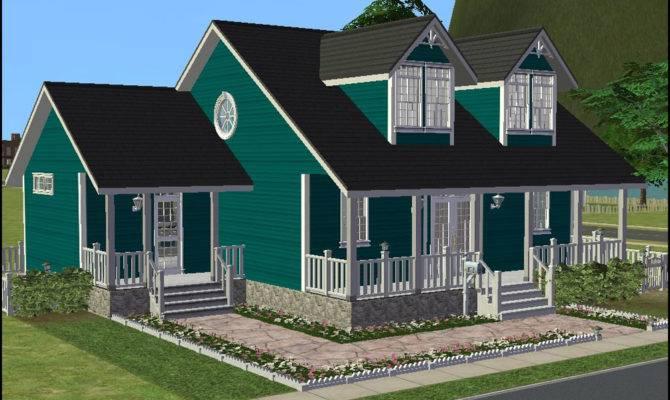 Mod Sims Cozy Cape Cod Cottage