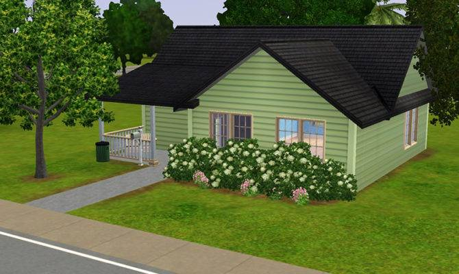 Mod Sims Lil Green Bungalow Small Home Your
