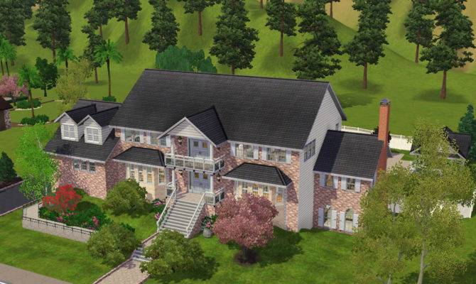 Mod Sims Magnificent Brick Large Home