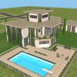 Mod Sims Modeco House Modern Art Deco