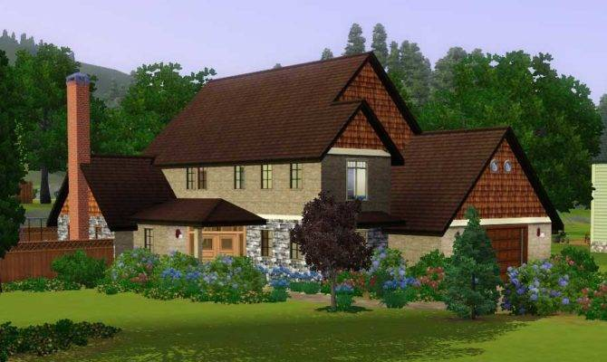 Mod Sims Surrounded Large House