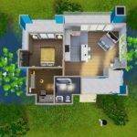 Mod Sims Vivid Colors Three Modern Colorful Houses