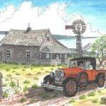Model Ford Old Farm Drawing Bill Friday