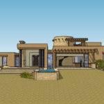 Modern Adobe Houses Back Taos