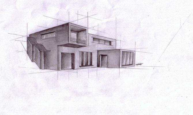 Modern Architecture Drawing Sketches