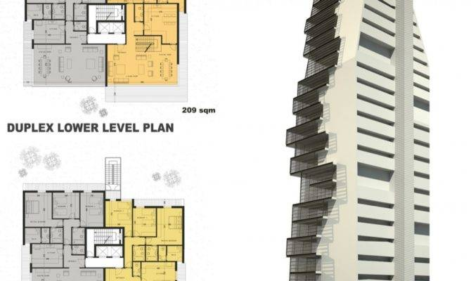 Modern Architecture Elevations High Rise Residential