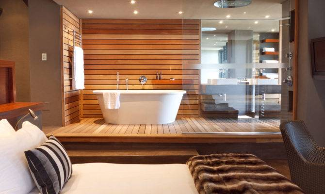 Modern Bathroom Design Open Plan Suite Garden Home