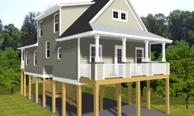 Modern Beach House Plans Stilts