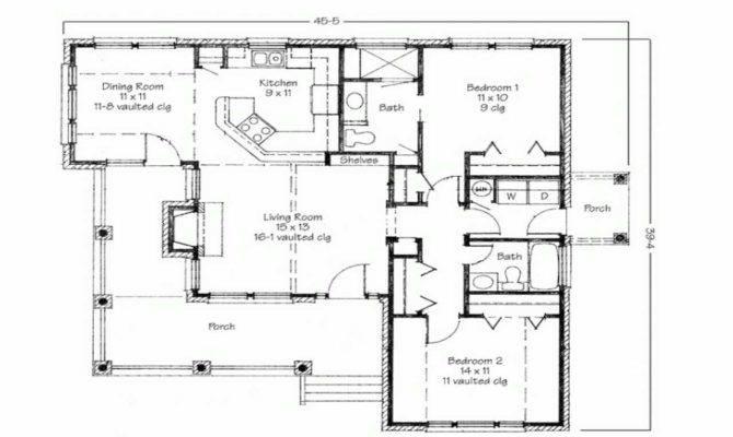 Modern Bedroom Bungalow Floor Plans