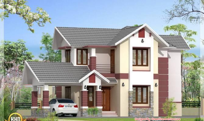 Modern Bedroom Kerala Home Elevation