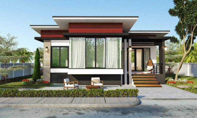 Modern Bedroom Single Story House Pinoy Plans